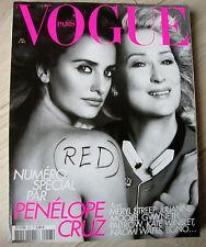 Magazine VOGUE Paris 907 mode Penelope Cruz Meryl Streep mai 2010 RED