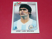 165 BROWN ARGENTINA MEXICO 86 FOOTBALL PANINI WORLD CUP STORY 1990 SONRIC'S
