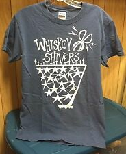WHISKEY SHIVERS CLASSIC RARE SMALL BLUE-GRAY SHIRT GREAT BAND!! BLUEGRASS ROCK!