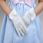 Girls White Satin Gloves Wedding Bridesmaid Flower Girl Communion Beauty Pageant