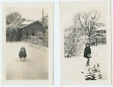 Parsons Kansas 1941 Little Girl in the Snow - American Culture