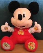 Disney 10 Inch Abc / 123 Talking Mickey Mouse Soft Toy By Clementoni