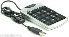 USB NUMERIC KEYPAD WITH BACKSPACE & 2 PORT HUB FOR NOTEBOOK LAPTOP ETC