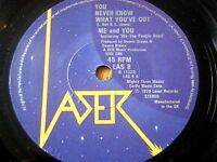 """ME & YOU - YOU NEVER KNOW WHAT YOU'VE GOT  7"""" VINYL"""