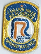 Roadway 1983 Springfield MO 1 million miles no accident driver patch 4-1/8X2-5/8