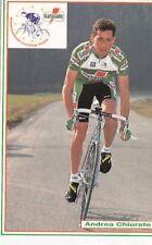 ANDREA CHIURATO cyclisme cp carte postale Cycling Ciclismo GATORADE 93