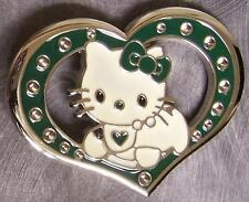 Pewter Belt Buckle Cartoon Hello Kitty Heart NEW