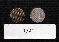 """1/2"""" brass tobacco pipe screen filters - 25 count - high quality!"""