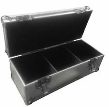 "Neo 300 LP VINYL 7"" Record DJ Silver Storage Aluminium DJ Flight Carry Case Box"