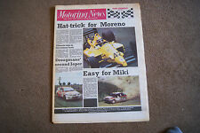 Motoring News 29 June 1988 Olympus & Ypres Rally Saab 9000CDE Monza F3000