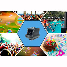 Unido Box Bubble Machine Black Portable Lightweight Travel Birthday Party Decor
