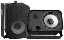 "Pyle PDWR50B Speakers 6.5"" Black Outdoor Pro; Pair"
