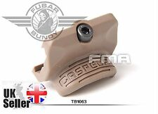 Airsoft FMA GO GUN Style GAS PEDAL RS2 Thrumb Rest for Rail - DE/Tan AEG GBBRs