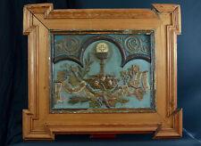 Grande Plaque Religieuse Terre Cuite Angelot Cadre Dutch Frame religious plaque