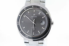 Men's Rado D-Star 200 Automatic R15959103 Charcoal Dial Stainless Steel Watch