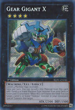 *** GEAR GIGANT X ***  FIRST EDITION SECRET  3 AVAILABLE REDU-EN010 YUGIOH !