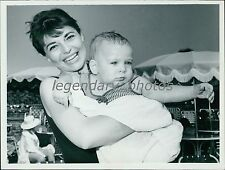 1962 Anne Bancroft With Babe in Arms Original New Service Photo