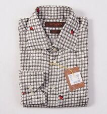 NWT $395 ETRO MILANO Ladybug Print Extrafine Cotton Shirt S/38 Button-Front