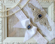 Customizable Wedding Garter, Bridal Garter, Ivory Lace Garter, Handmade, Garter