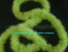 "75g LiGht LiMe GreEn marabou feather boa 2""W 10Yard"