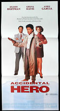 ACCIDENTAL HERO Dustin Hoffman GEENA DAVIS Original Daybill Movie Poster