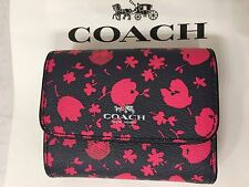 COACH Accordion Card Wallet F56725/Leather/Midnight Pink Ruby/$95/NWT