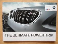 BMW M6 RANGE orig 2012 UK Mkt Card Sales Brochure - Coupe Convertible Gran Coupe