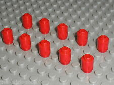 10 cylindres rouges LEGO red Bricks 1 x 1 Round with Hollow Stud 3062b / 2150 ..