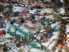 153 pc necklace lot,rhinestones,stones,pearls,turquoise,glass beads,++,wear,