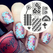 Nail Art Stamping Schablonen Stempel Template Stamp Image Plate BORN PRETTY BP44