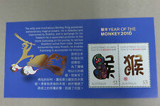 Australia Christmas Island 2016 Monkey Year MS MINT MNH