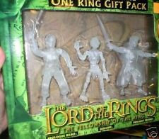 BEARERS OF THE ONE RING GIFT PACK.  3 TRANSLUCENT FIGURES MIB  FREE U.S. SHIP