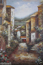 "24""x36"" Hand Painted Oil on High Quality Stretched Canvas ~Italian Streets~"