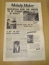 MELODY MAKER 1953 NOVEMBER 14 KEN MACKINTOSH DICKIE VALENTINE JAZZ CLUB