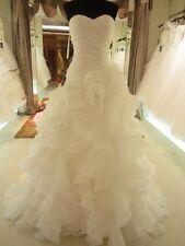 Wedding dress ruffled custom any size white or ivory plus or regular size