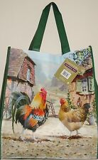 Chicken and Cockerel  Print  Shopping Bag