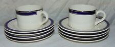 10 AMERICAN AIRLINES Syracuse China Cups & Saucer Plates Cobalt Blue Silver