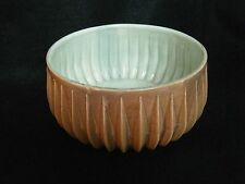 Red Wing Art Pottery Brown  & Green BOWL  Unique Mid Century Mod Beautiful OLD