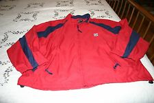 BMW Lifestyle Navy Blue and Red Full Zip Light Jacket MENS XL