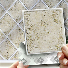 18 Stick & Go 'Marble' Stick On Wall Tiles for Kitchens or Bathrooms