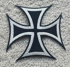"GERMAN IRON CROSS PATCH 3"" Cloth Badge/Emblem/Insignia Biker Jacket Bag Iron Sew"