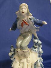 Pioneer Skiing. Skier. Porcelain Figurine. Verbilki. Russia. USSR