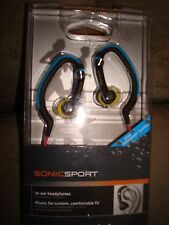 SONICSPORT IN-EAR HEADPHONES AUDIO-TECHNICA BLUE WITH YELLOW