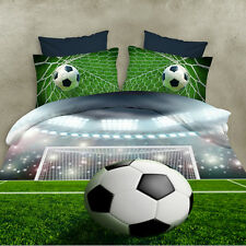 3D Polyester Soccer Ball Duvet Cover Boys Bedding Set Pillowcase Halloween Gift