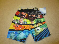 NWT Disney Incredibles Toy Story Nemo Monsters Swim Trunks Swimsuit 24 months