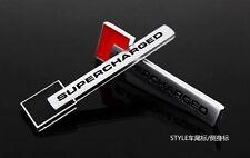 Black Metal Turbo Charger SUPERCHARGED Engine Emblem Badge Sticker For J#L