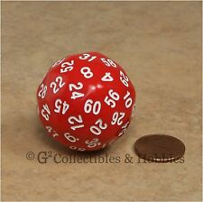 NEW Red D60 Sixty Sided Dice D&D RPG Game Die Koplow Random Time Seconds Minutes