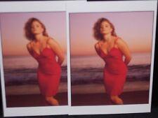 2 vintage photo postcards Jodie Foster Malibu, CA Annie Leibovitz