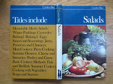 Cordon Bleu Cook Book SALADS Vintage 1970s Cookery Recipe