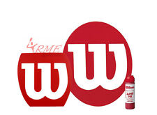 Wilson Tennis, Squash, Badminton Stencil and Wilson Red Stencil Ink Pack